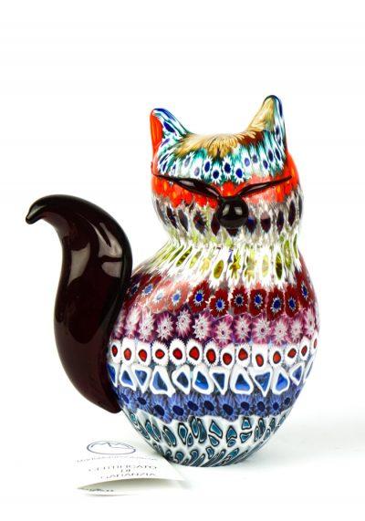 Honey – Sculpture Cat Mosaic Murrina Millefiori – Made Murano Glass