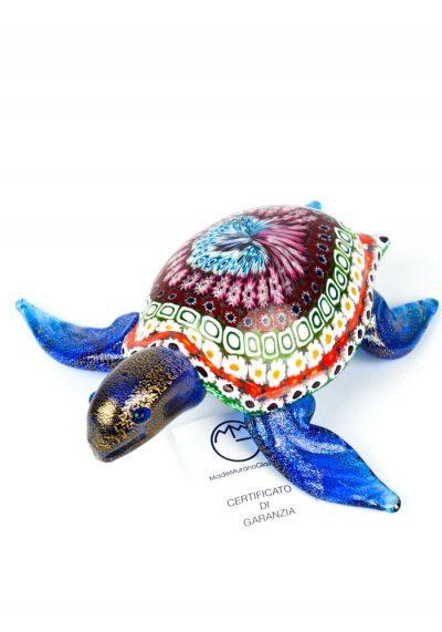 Sculpture Sea Turtle Mosaic Murrina Millefiori – Made Murano Glass