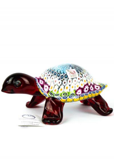 Sculpture Turtle Mosaic Murrina Millefiori – Made Murano Glass