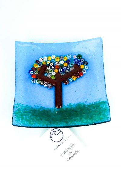 Murano Glass Plate With Tree