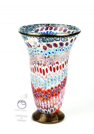 Alibi – Mosaic Vase With Murrina Millefiori And Gold 24kt