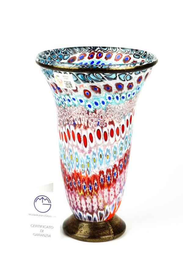 Alibi - Vaso Mosaico Murrina Millefiori E Oro 24kt