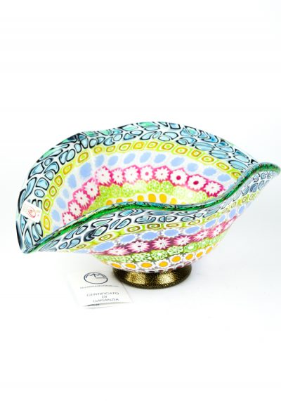Corpori – Mosaic Bowl With Murrina Millefiori And Gold 24kt