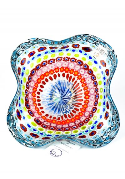 Andrew – Mosaic Bowl With Murrina Millefiori And Gold 24kt