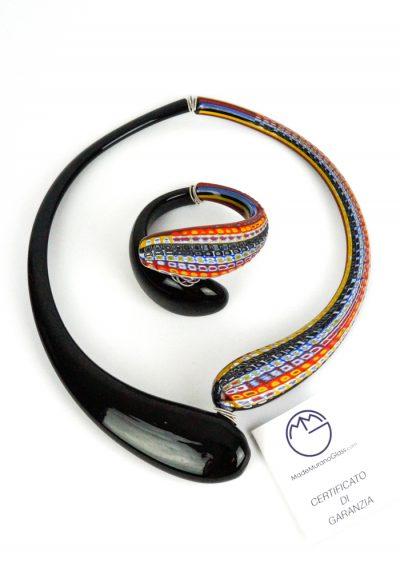 Modali Parure – Necklace And Bracelet With Millefiori