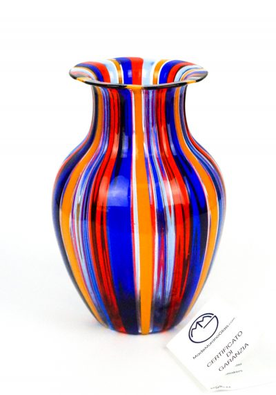Lavigna – Vase In Pipe Red Blue Yellow