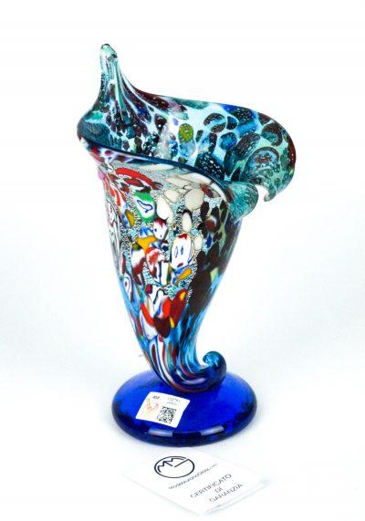 Cornucopia – Murano Glass Vase Fantasy Sea Water