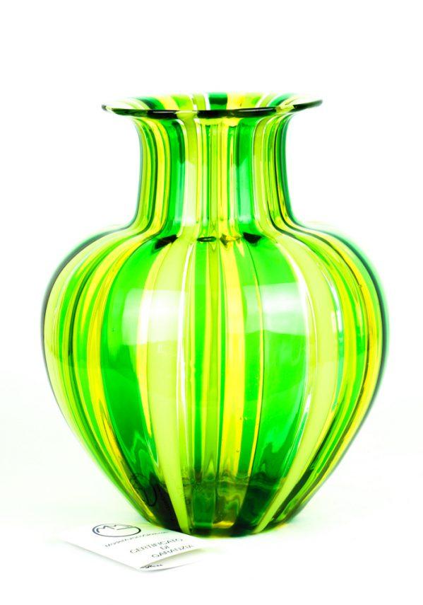 Oleo - Vaso Vetro Soffiato In Canna Multicolore