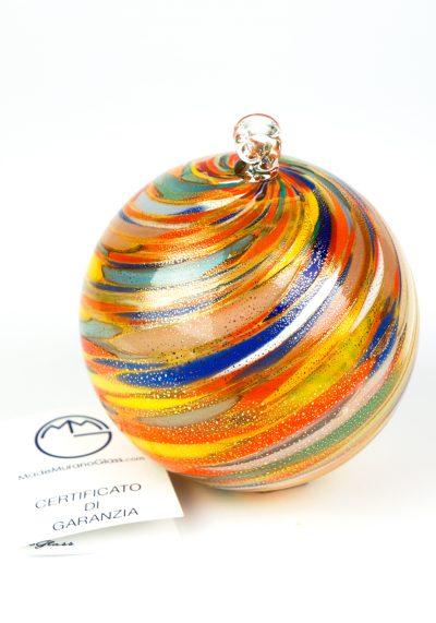Virginia – Xmas Multicolour Ball With Gold Leaf 24kt
