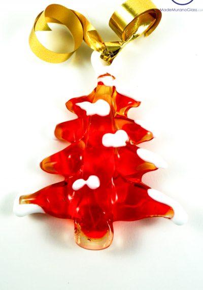 Red Christmas Tree In Murano Glass – Murano Glass Ornaments