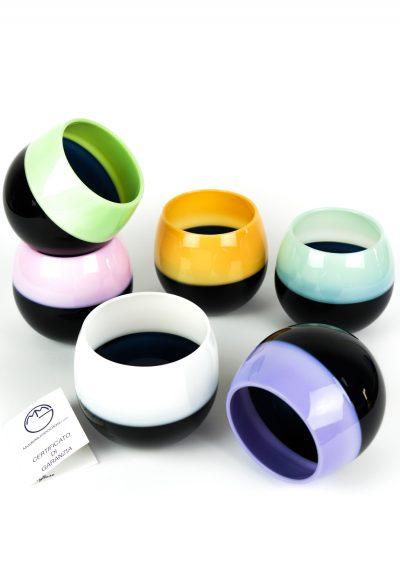 Incalmo – Set Of 6 Murano Drinking Glasses Incalmo