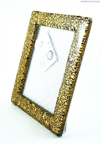 Picture Frame In Murano Glass With Gold 24kt – Size Xl