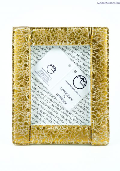 Picture Frame In Murano Glass With Gold 24 Carats – Size M