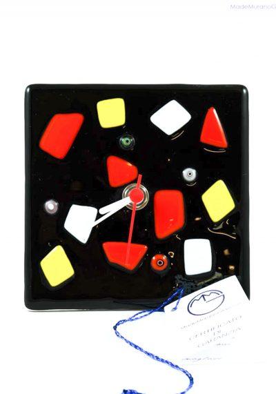 Washington – Table Clock In Murano Glass – Murano Glass Ornaments