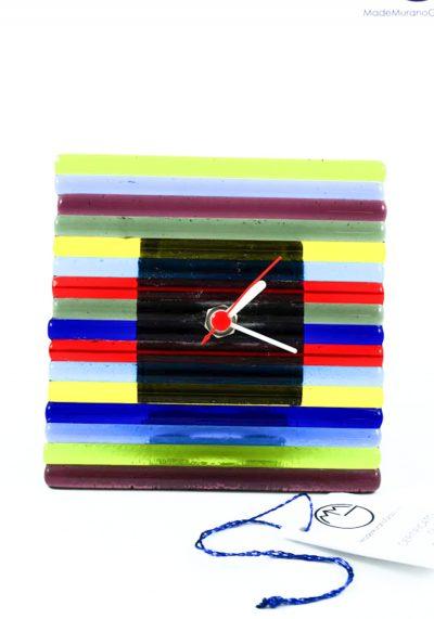 Taos – Table Clock In Murano Glass – Murano Glass Ornaments