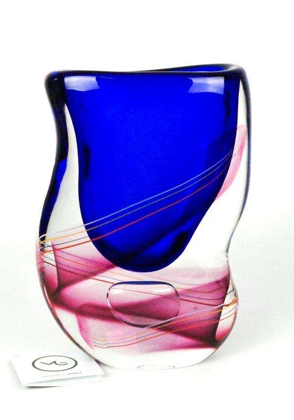 Miah - Vaso Murano Sommerso Blu Rubino