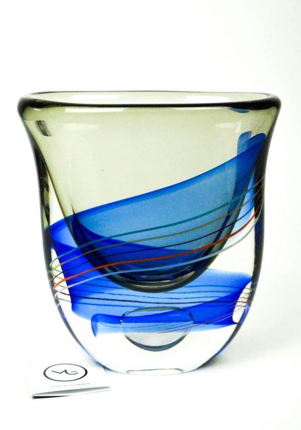 Gael - Vaso Murano Sommerso Grigio Blu