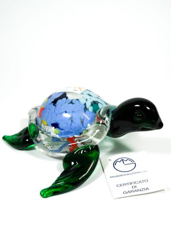 Collezione Aida Sommerso - Tartaruga Marina In Vetro Murano