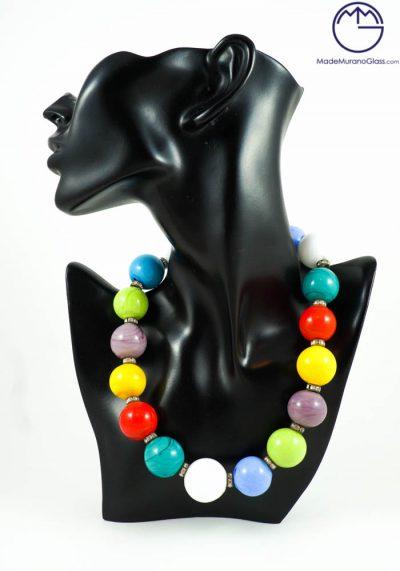 Zoe – Murano Glass Jewelry – Necklace In Venetian Blown Glass