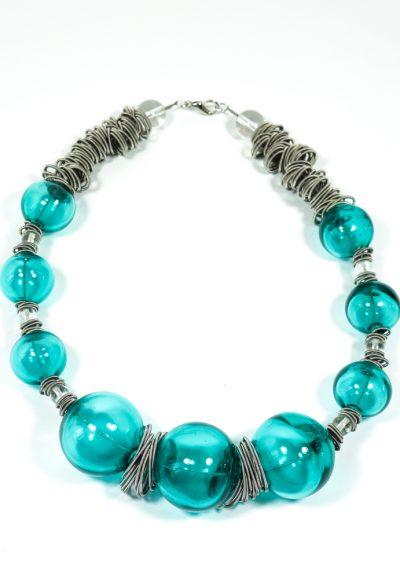 Vertigo – Made Murano Glass Jewelry – Necklace In Venetian Blown Glass