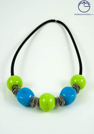 Madelyn – Murano Glass Jewelry – Necklace In Venetian Blown Glass