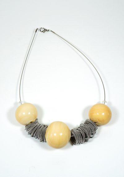 Trio – Made Murano Glass Jewelry – Necklace In Venetian Blown Glass