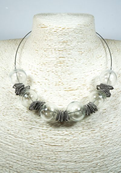 Crystal – Made Murano Glass Jewelry – Necklace In Venetian Blown Glass
