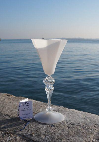 Cortina – Venetian Glass White Goblet – Murano Glass
