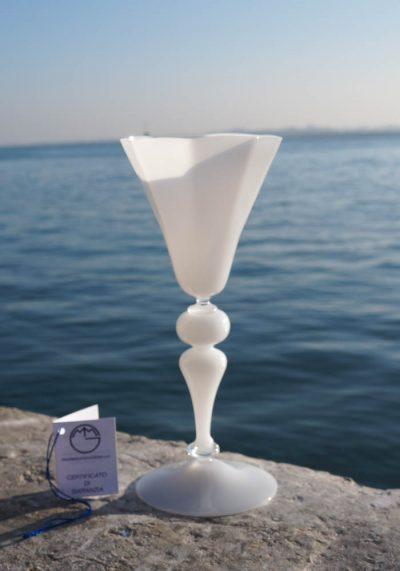 Asiago – Venetian Glass White Goblet – Murano Glass