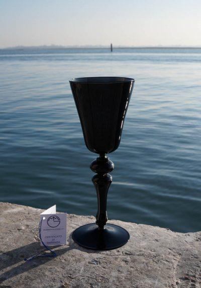 Mistery – Venetian Glass Black Goblet – Murano Wine Glasses