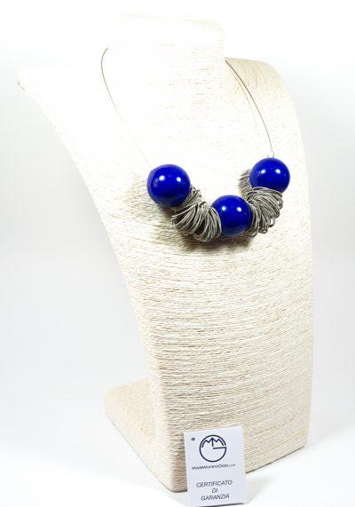 Siry – Collana Murano Vetro Artistico Blu – Gioielli Murano