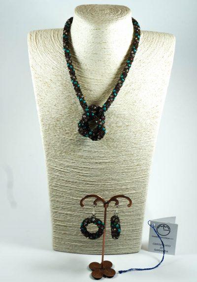 Egiziana I – Murano Glass Jewelry – Necklace And Earrings