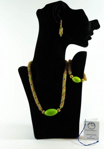 Egiziana Ii – Murano Glass Jewelry – Necklace Bracelet Earrings