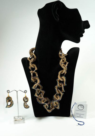 Onda – Necklace And Earrings – Murano Glass