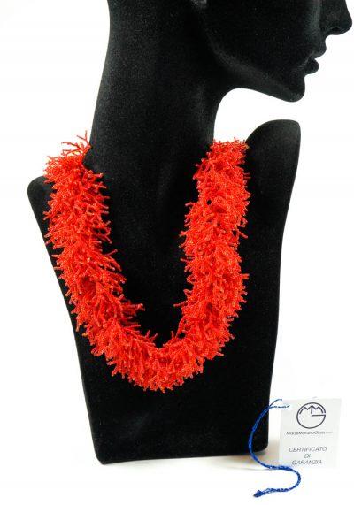 Coral Necklace In Murano Glass – Murano Jewelry