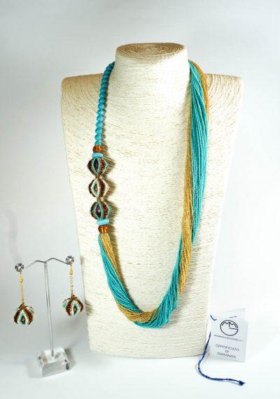 Dubai – Murano Jewelry – Necklace And Earrings – Venetian Glass