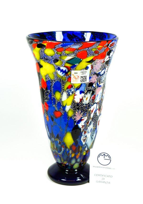 Mose - Vaso Svasato Blu - Made Murano Glass