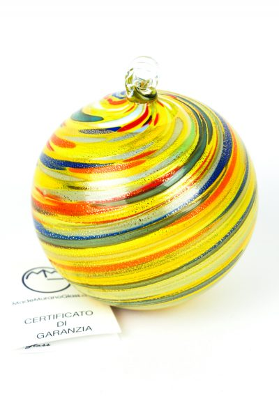 Utah – Xmas Multicolour Ball With Gold Leaf 24kt