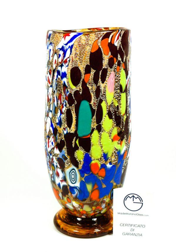 Magia - Vaso Cilindro Ambra - Made Murano Glass