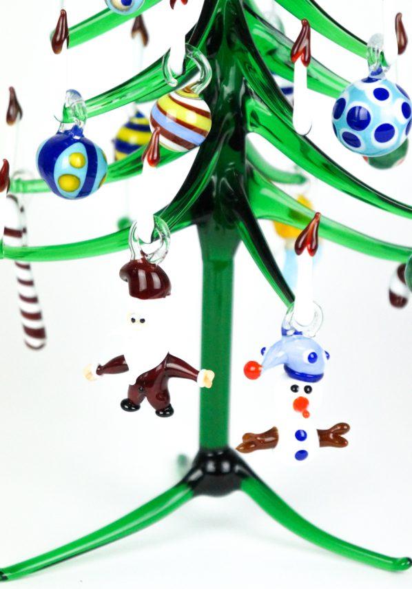 Albero Di Natale Verde Punto Rossa Con Decorazioni In Vetro Di Murano xmas tree