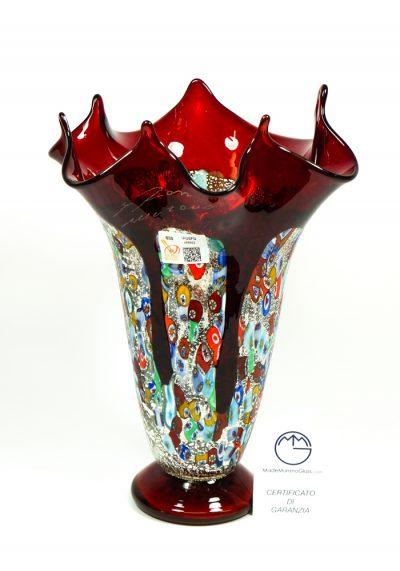 Paina – Murano Glass Blown Vase Red