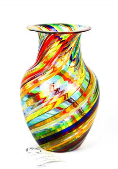 Spring – Vaso Vetro Soffiato In Canna Multicolore