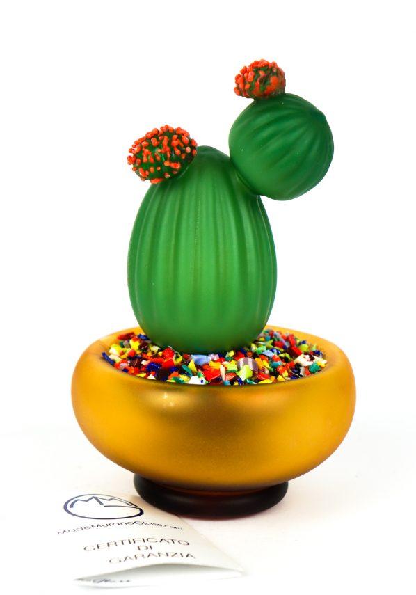 Lino - Pianta Grassa Cactus Vetro Soffiato Murano