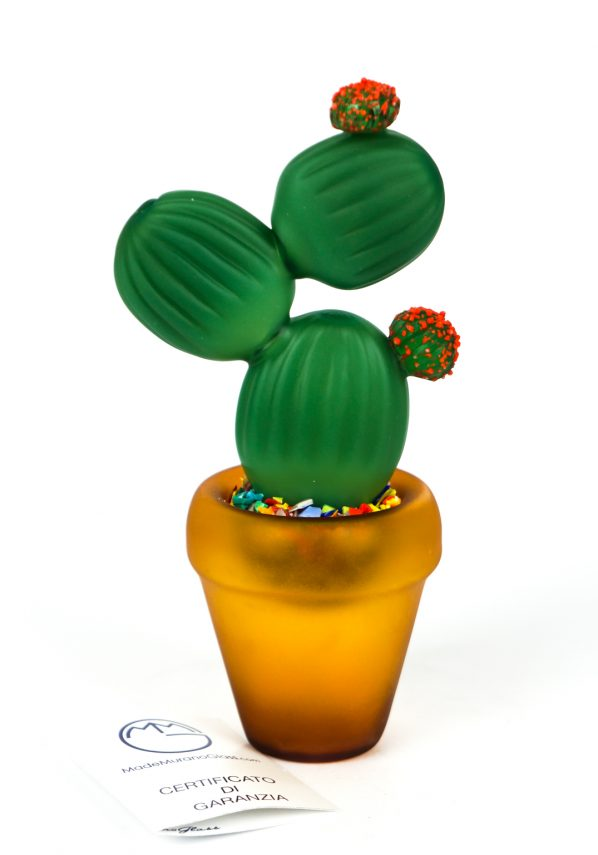 Ose - Pianta Grassa Cactus Vetro Murano