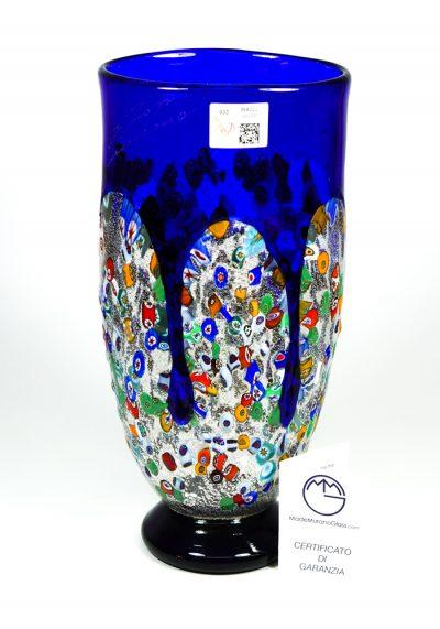 Larka – Blown Murano Vase Blue