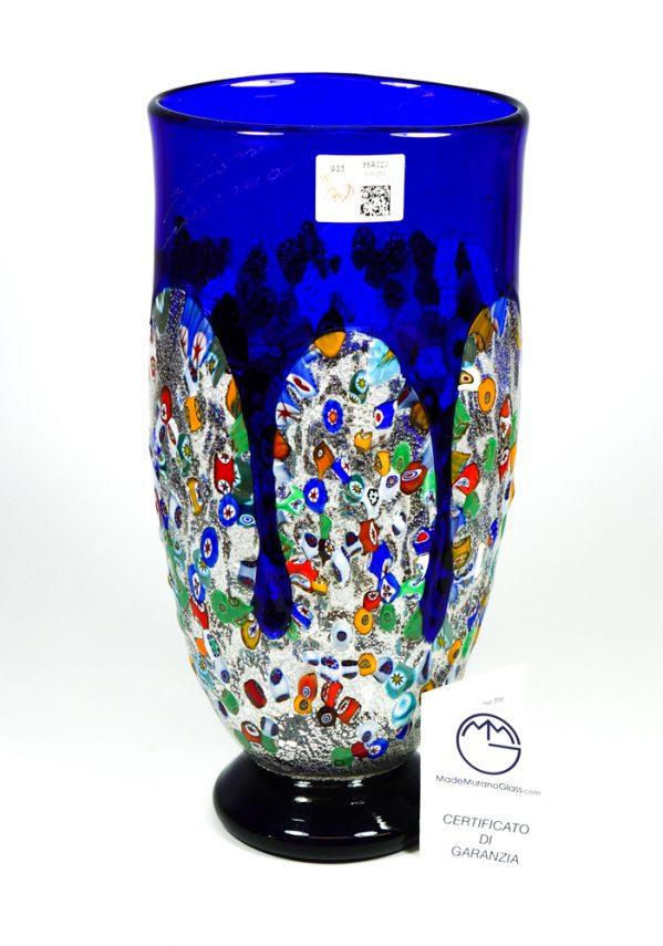 Larka - Vaso Colature Blu - Made Murano Glass