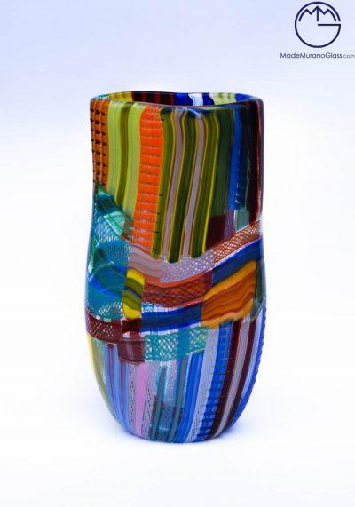 Malaga – Venetian Glass Vase Carnival Multicolor – Murano Glass