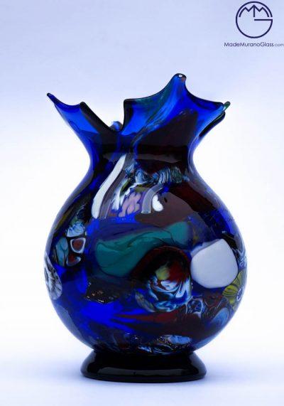 Delhi – Murano Glass Vase Fantasy Blue – Murano Art