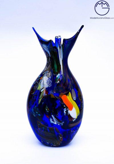 Brasilia – Murano Glass Vase Fantasy Blue – Murano Collection