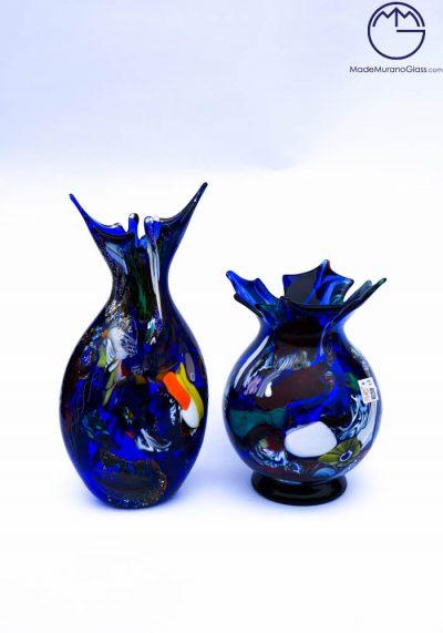 Venetian Glass Vases Fantasy Blue – Murano Glass